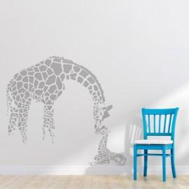 Vinilo decorativo mamá jirafa