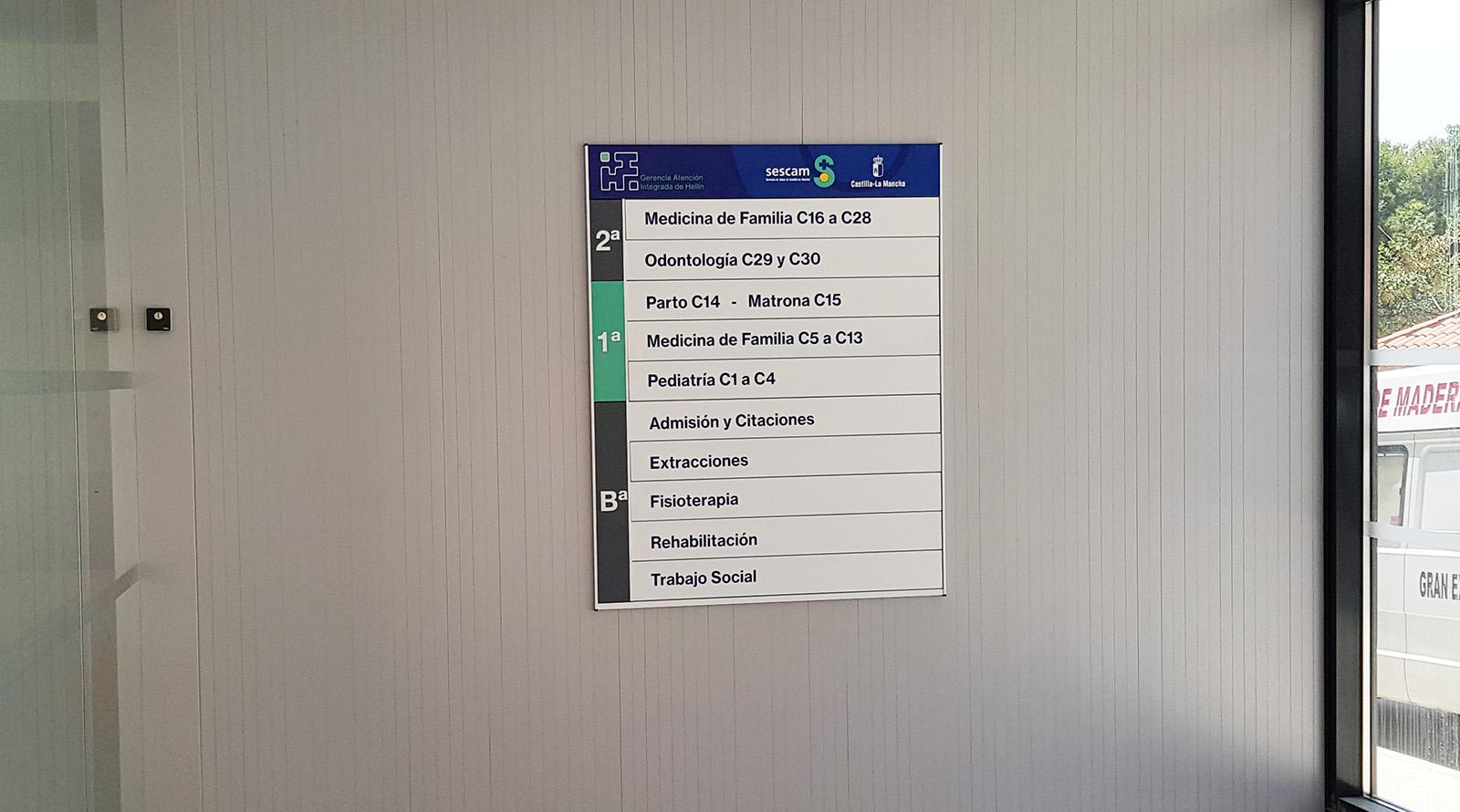 señalización para hospitales